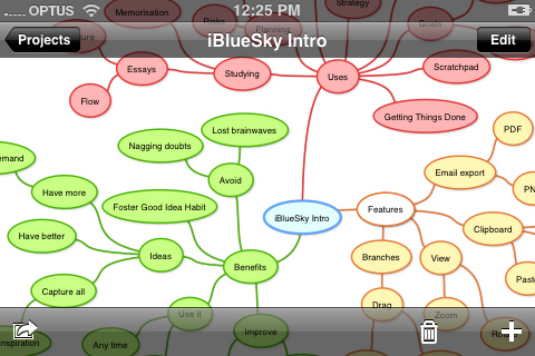 Review: iBlueSky v2.0 continues to lead the field for mind mapping on the iPhone and iPod Touch