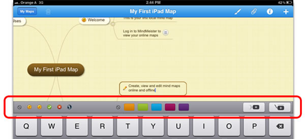 MindMeister for iPad version 4.1