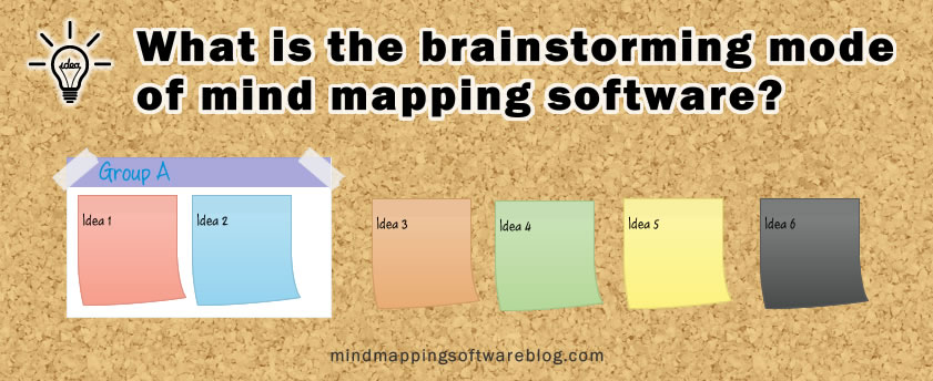 brainstorming mode - mind mapping software